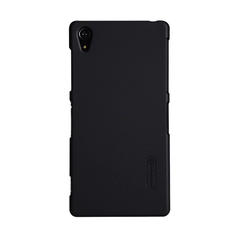 Nillkin Super Frosted Shield Hitam Casing for Xperia Z + Screen Protector