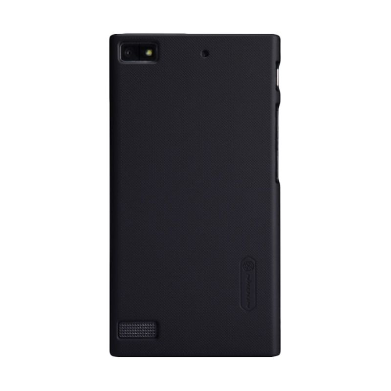 Nillkin Super Frosted Shield Hitam Casing for BlackBerry Z3 + Screen Protector