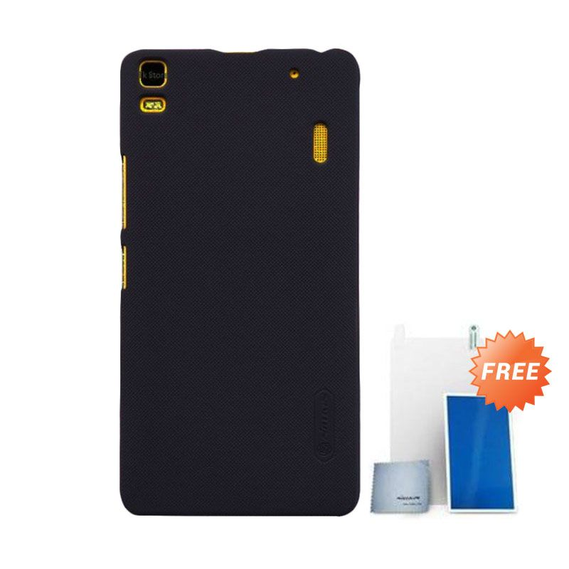 Nillkin Super Frosted Shield Hitam Casing for Lenovo A7000 + Screen Protector