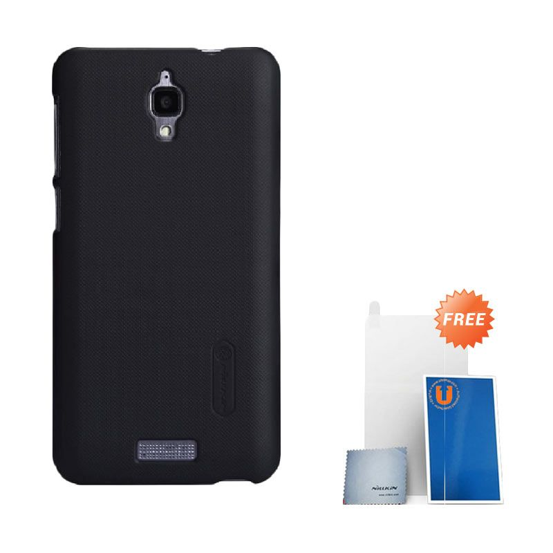Nillkin Super Frosted Shield Hitam Casing for Lenovo S660 + Screen Protector