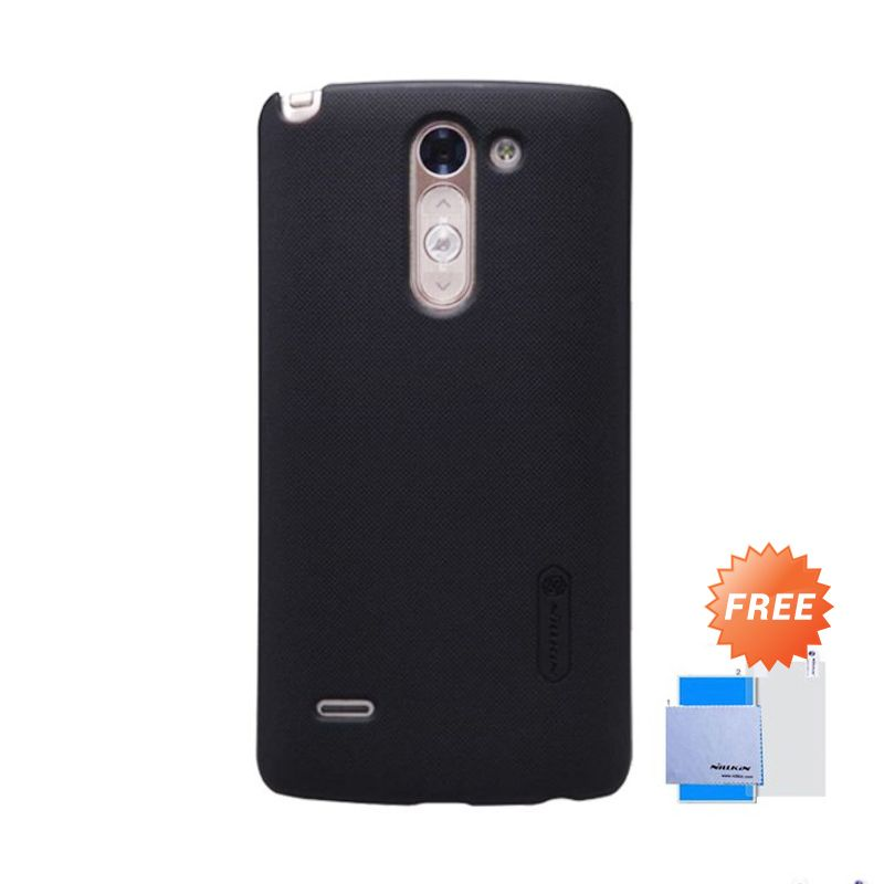 Nillkin Super Frosted Shield Hitam Casing for LG G3 Stylus + Screen Protector