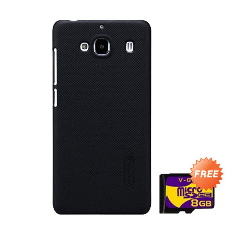 Nillkin Super Frosted Shield Hitam Casing for Xiaomi Redmi 2 + Memory Card