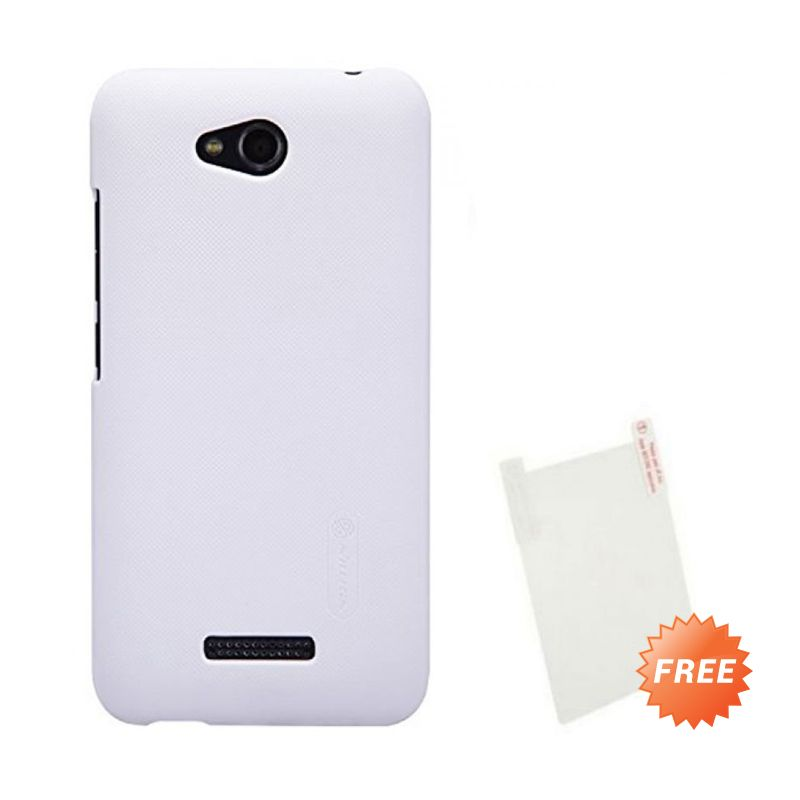 Nillkin Super Frosted Shield Putih Casing for HTC Desire 816 + Screen Protector