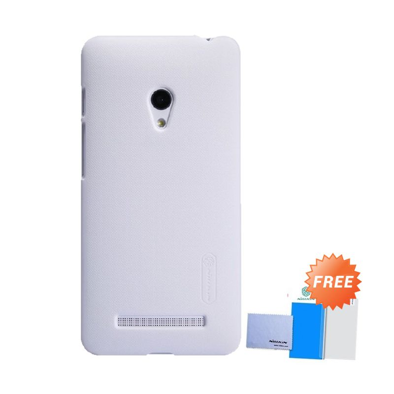 Nillkin Super Frosted Shield Putih Casing for Zenfone 5 + Screen Protector