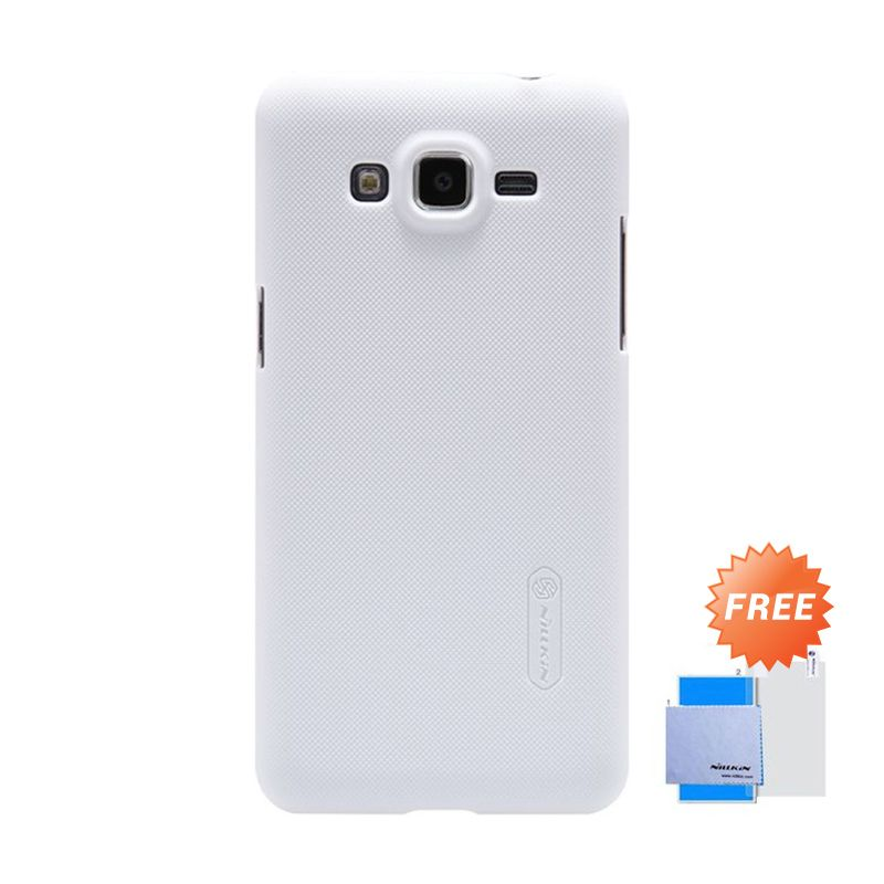 Nillkin Super Frosted Shield Putih Casing for Galaxy Grand Prime + Screen Protector