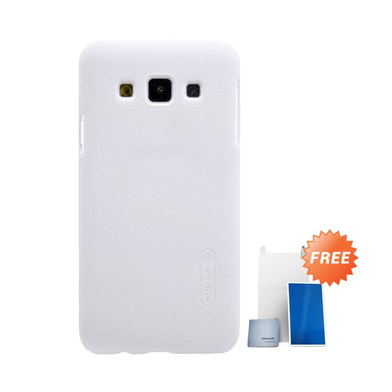 Nillkin Super Frosted Shield Putih Casing for Samsung Galaxy A3 + Screen Protector