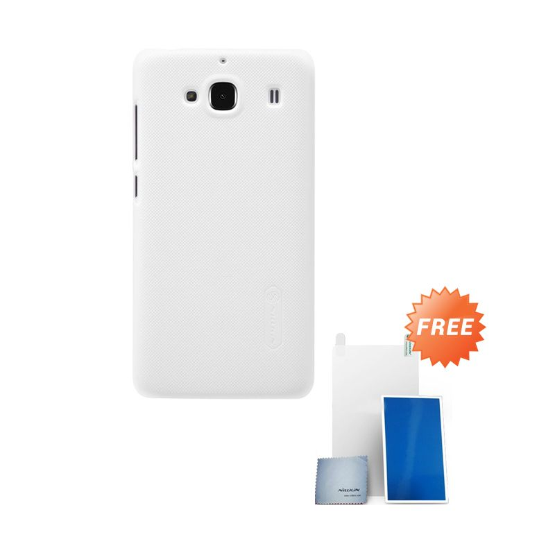 Nillkin Super Frosted Shield Putih Casing for Xiaomi Redmi 2 + Screen Protector