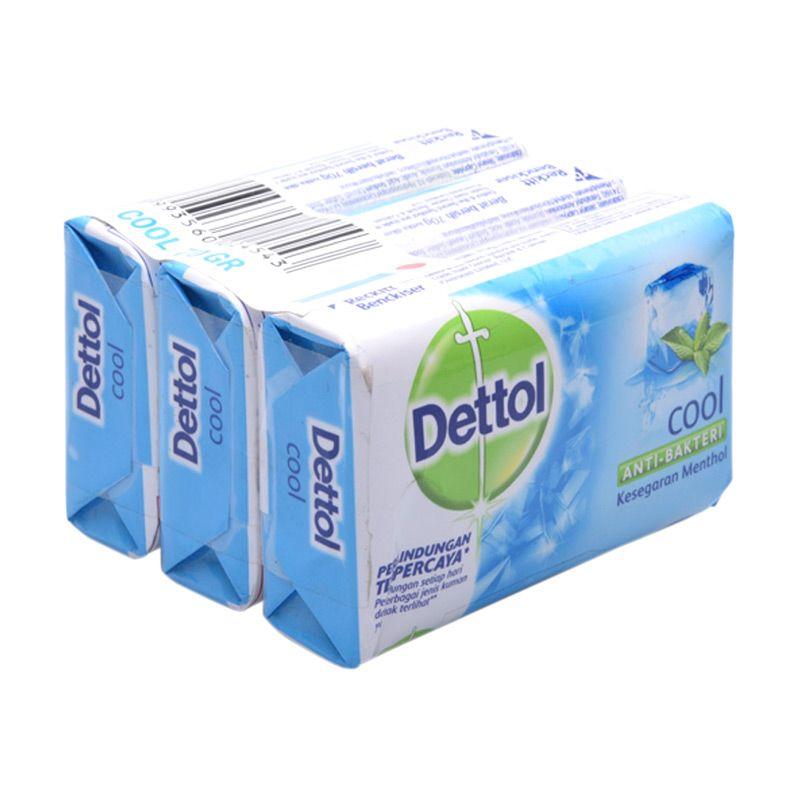 Dettol Cool Anti-Bakteri Sabun Mandi [70 gr/3 Pcs]
