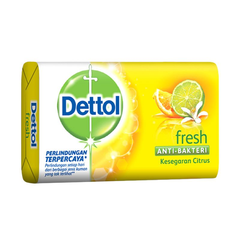 Dettol Fresh Anti-Bakteri Sabun Mandi [105 gr]