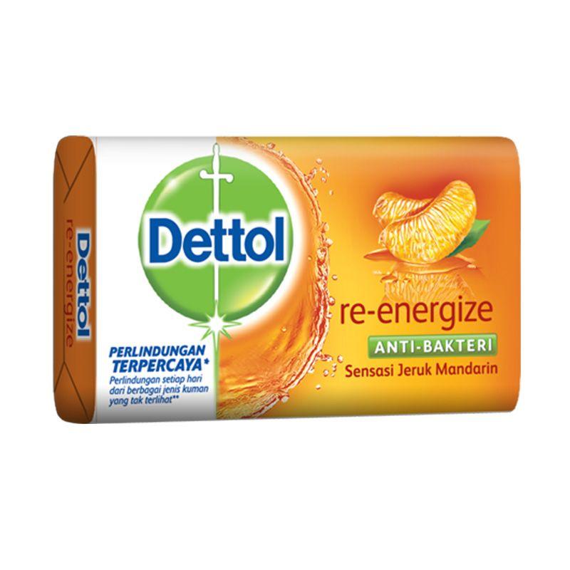 Dettol Reenergize Anti-Bakteri Sabun Mandi [5 x 110 Gram]