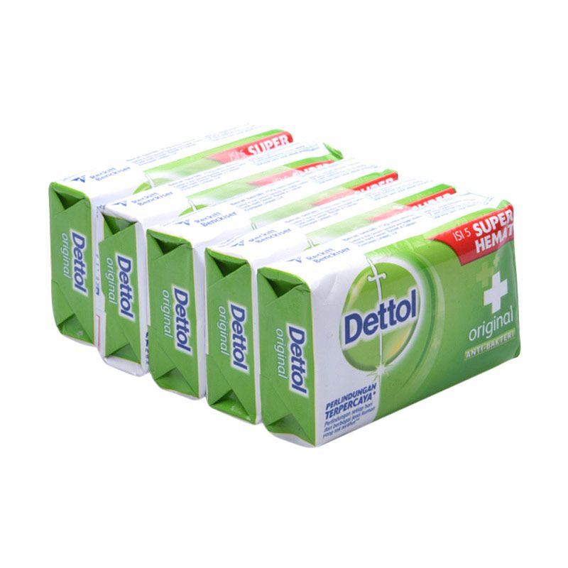 Dettol Sabun Anti-Bakteri Original 65 gr Super Hemat 5 Pcs