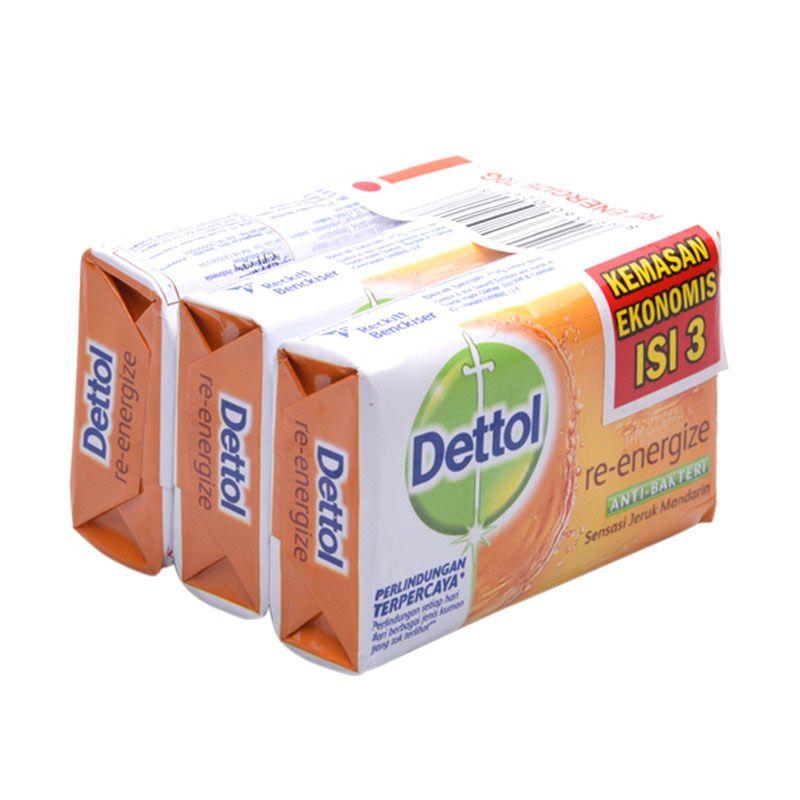 Dettol Sabun Anti-Bakteri Reenergize Special Price [3 Pcs/70 g]