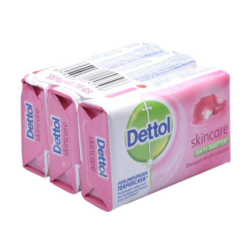Dettol Skincare Sabun Anti-Bakteri [65 g/ 3 pcs]