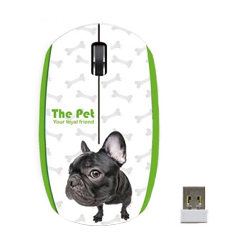 LEXMA Trace Pet Series M711R FB Green Wireless Mouse