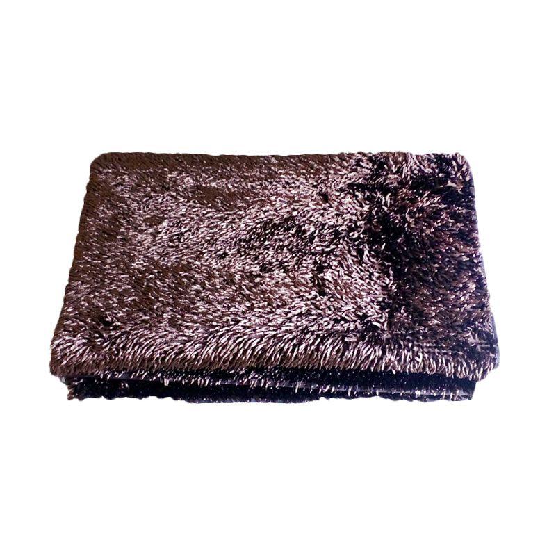 Dinemate Cendol Glossy Coklat Tua Karpet [150 x 200 cm]