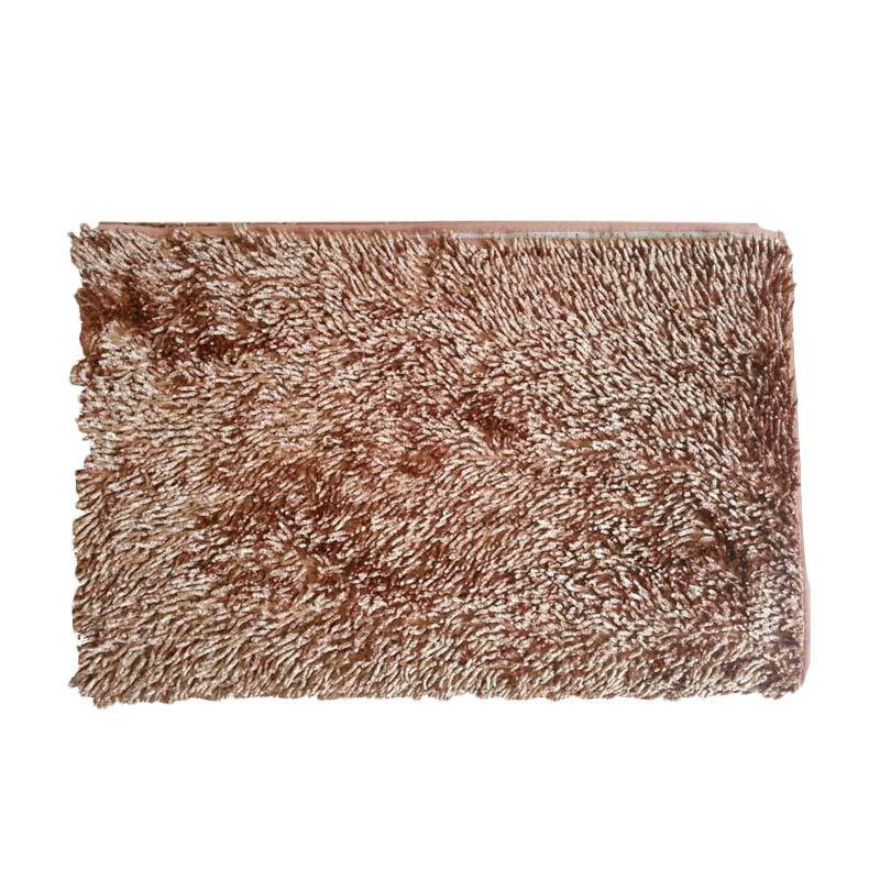 Dinemate Glossy Coklat Muda Gold Karpet Cendol [150 x 200 cm]