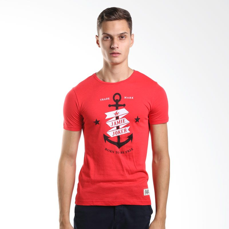 Jamie Joker Anchor Red T-Shirt Pria