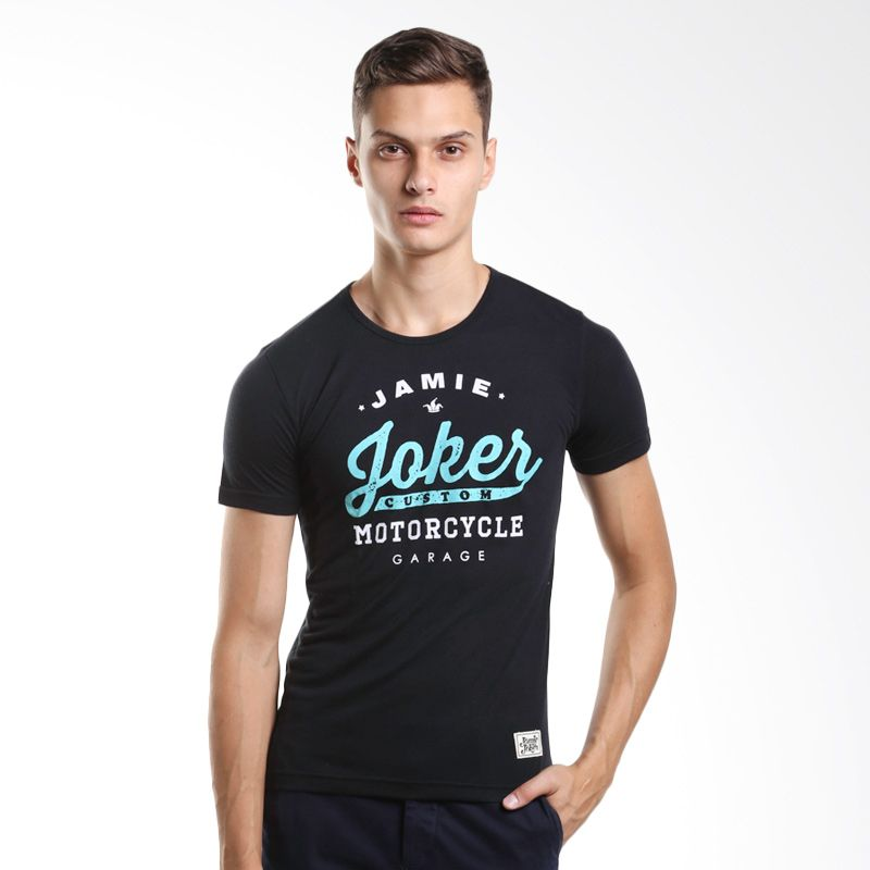 Jamie Joker Custom Black T-Shirt Pria