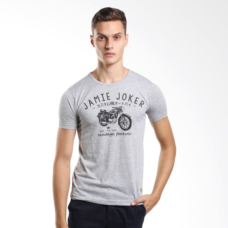 Jamie Joker Ojeker Misty Grey T-Shirt Pria