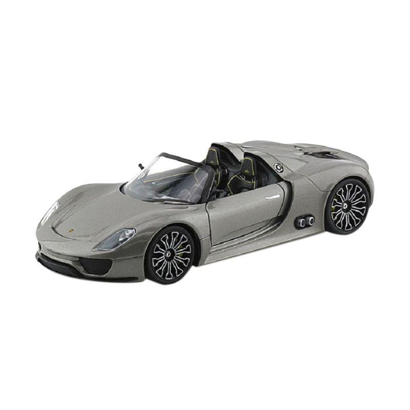 Welly Nex Porsche 918 Spyder Grey Diecast [1:24]