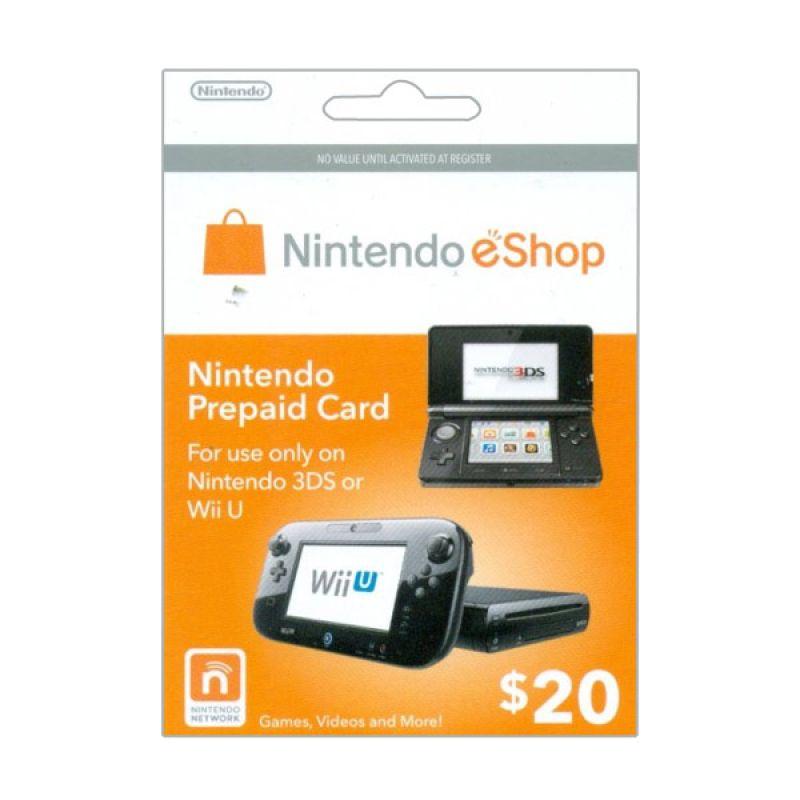 Nintendo Network Card 3Ds & WiiU US $20