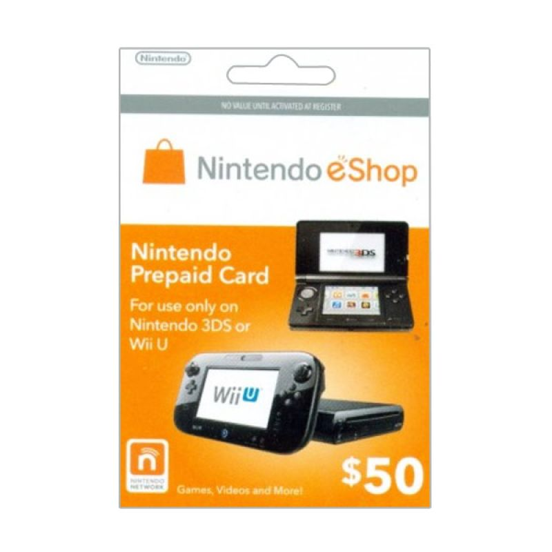 Nintendo Network Card 3Ds & WiiU US $50