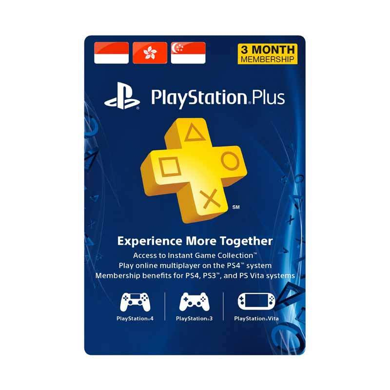 PlayStation Network Plus Asia 3 Month - Voucher Kode Game