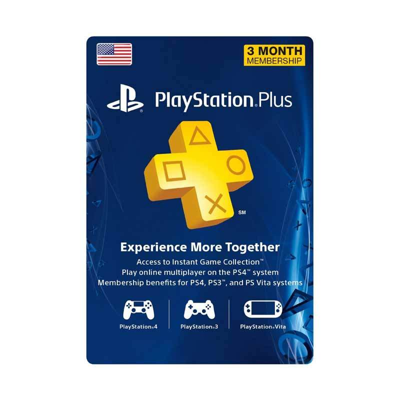 PlayStation Network Plus US 3 Month - Voucher Kode Game