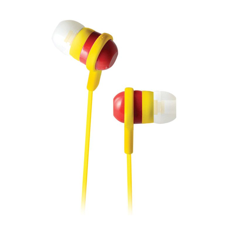 Cliptec Stereo Bass BME515 Kuning Merah Earphone