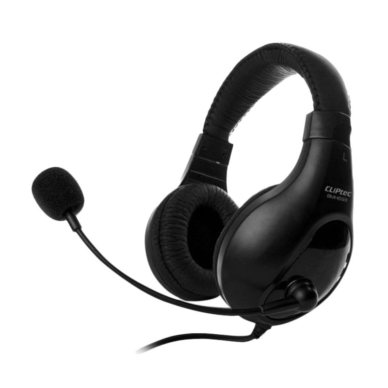 Cliptec BMH693 Dynamic Stereo Multimedia Hitam Headset