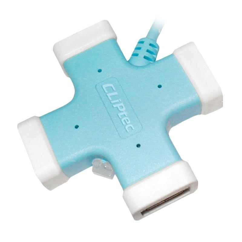 CLiPtec RZH201 Biru USB Hub [4 Port Versi 2.0]