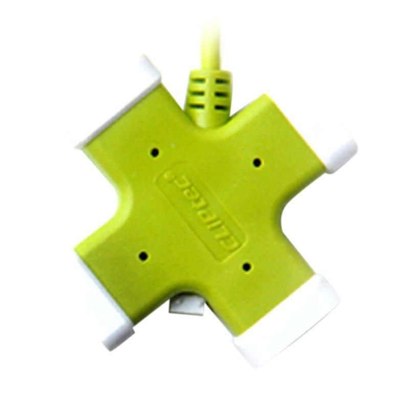 CLiPtec RZH201 Hijau USB Hub [4 Port Versi 2.0]