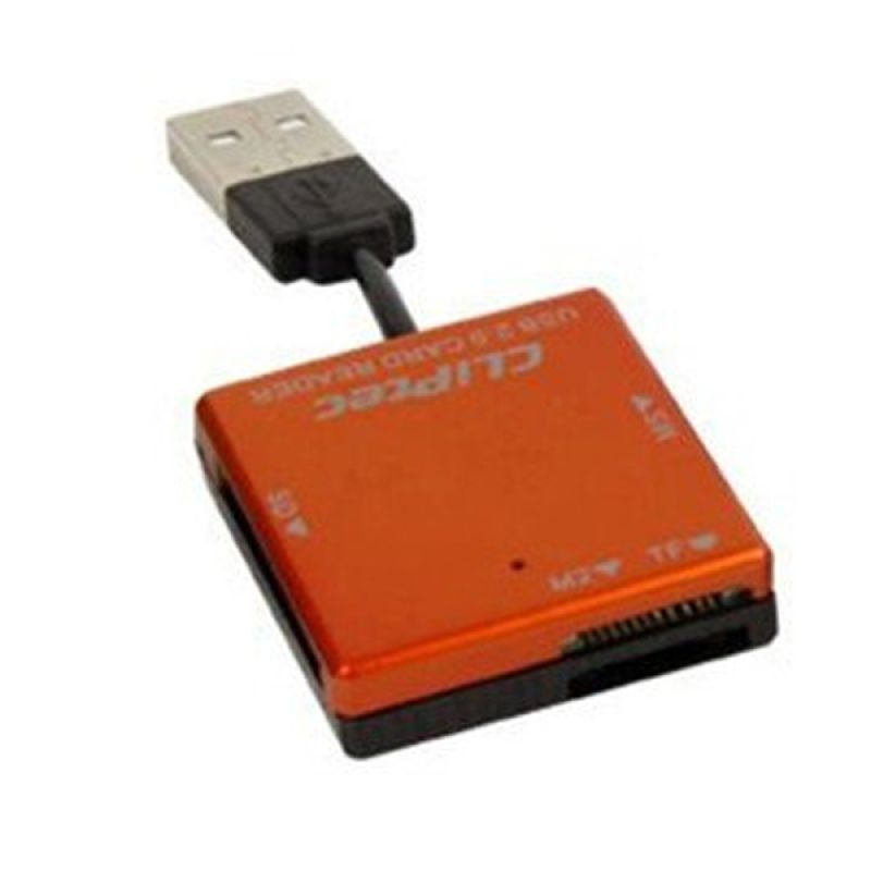 Cliptec RZR507 Orange Card Reader [4 Slots]