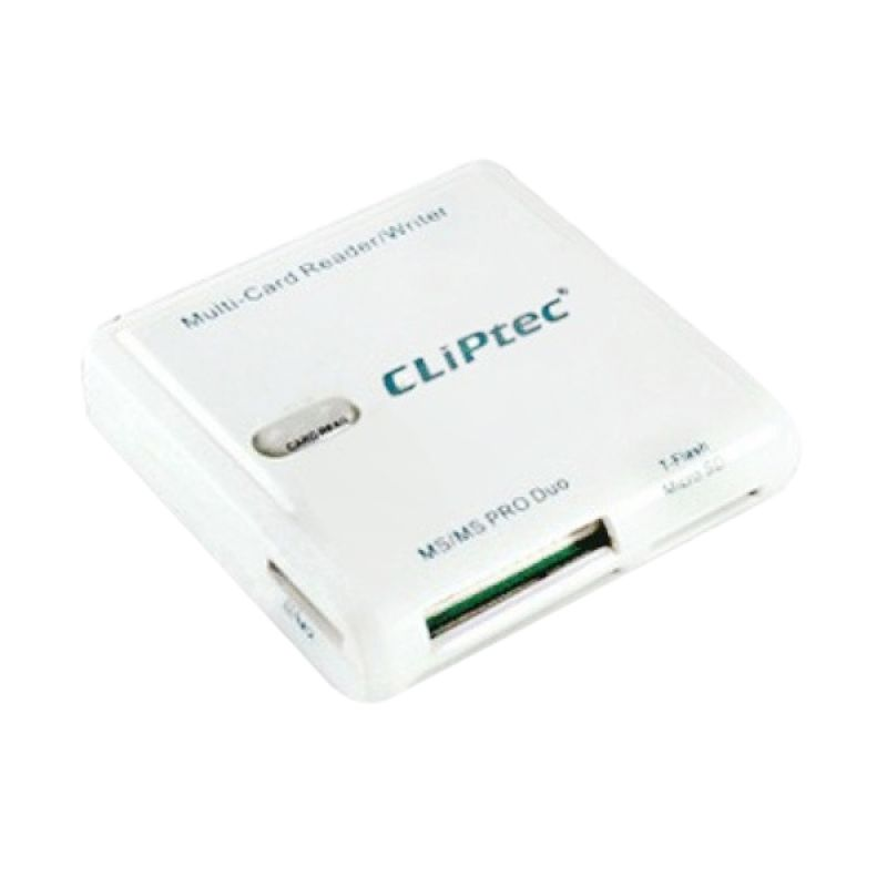 Cliptec RZR507 Putih Card Reader [4 Slots]