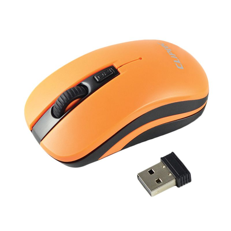 Cliptec RZS848 Orange Mouse Wireless [1600 Dpi]