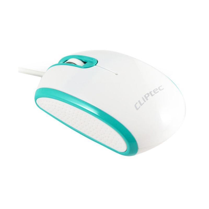 Cliptec RZS966 Biru Putih Mouse Kabel USB [1000 Dpi]