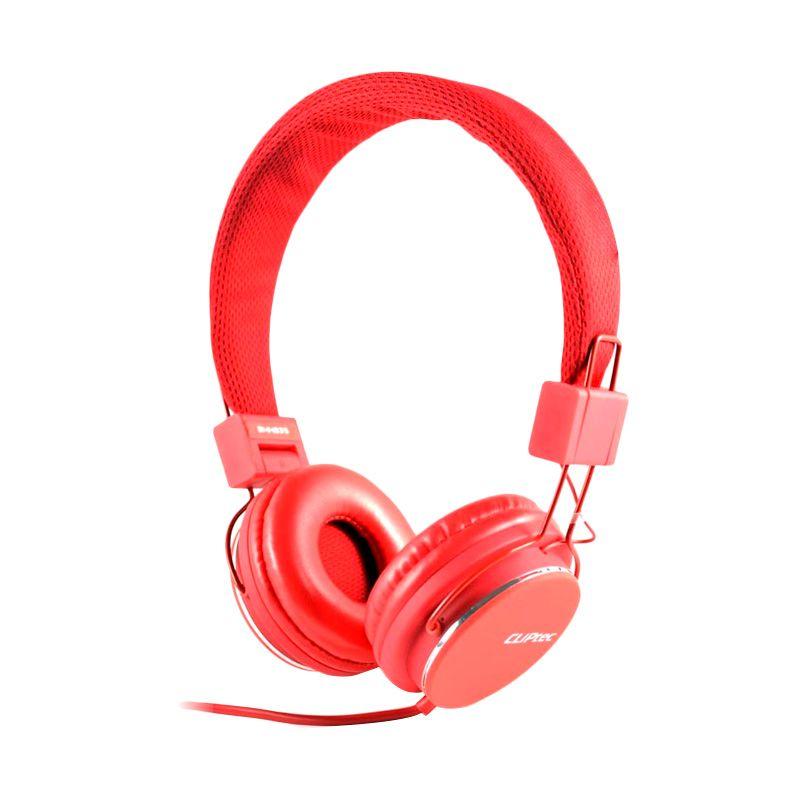 Cliptec Stereo Multimedia BMH835 Merah Headset