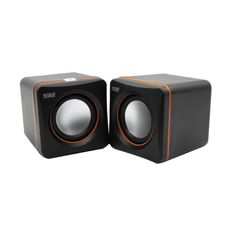M-Tech 02 Hitam Orange Speaker Portable