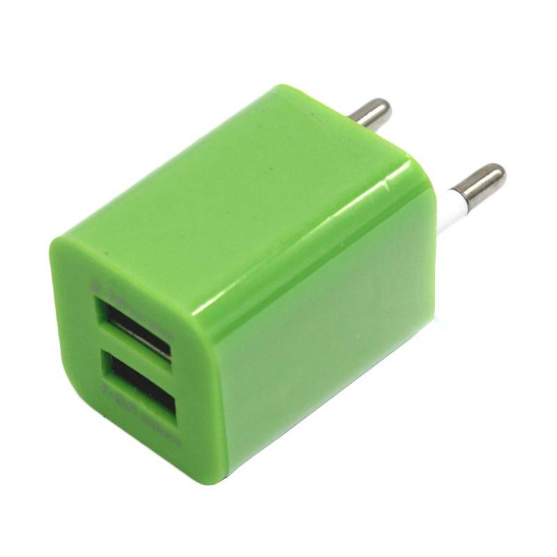 M-Tech Hijau Charger Adaptor [2 A / Dual USB]