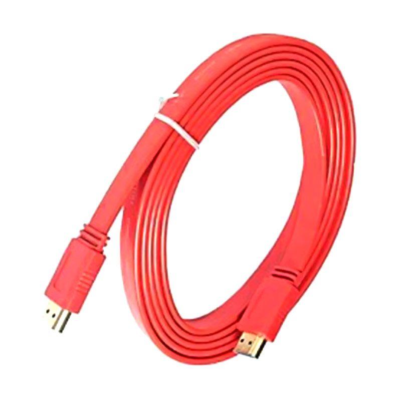 M-Tech Kabel HDMI Merah Flat V.1.4 [5M]
