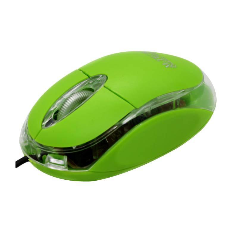 M-Tech Kabel USB Standard Hijau Mouse