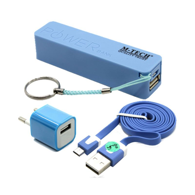 M-Tech Komplit Set Biru Powerbank [2000 mAh]