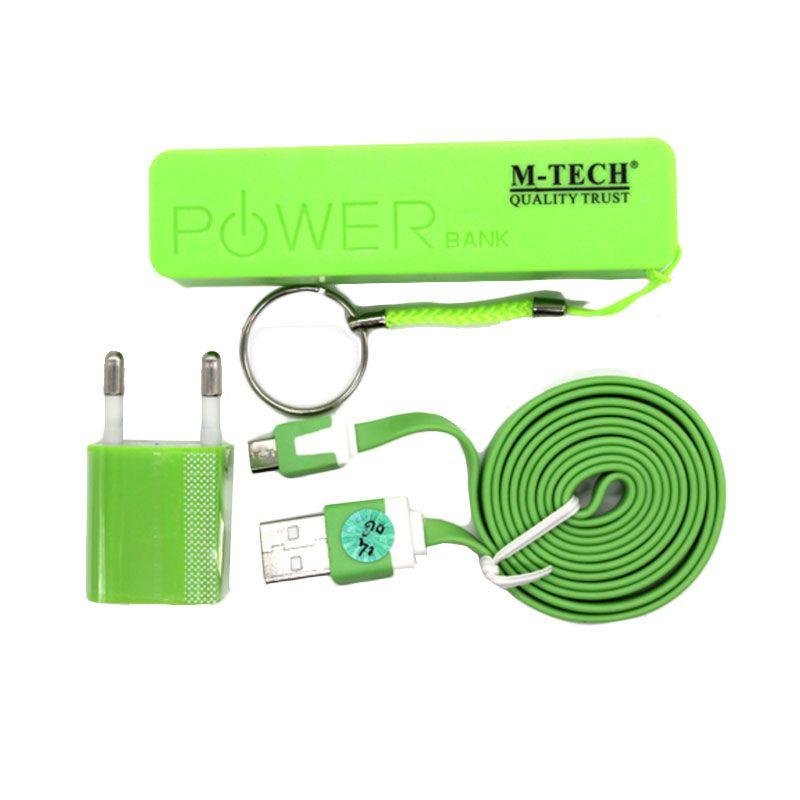 M-Tech Komplit Set Hijau Powerbank [2000 mAh]