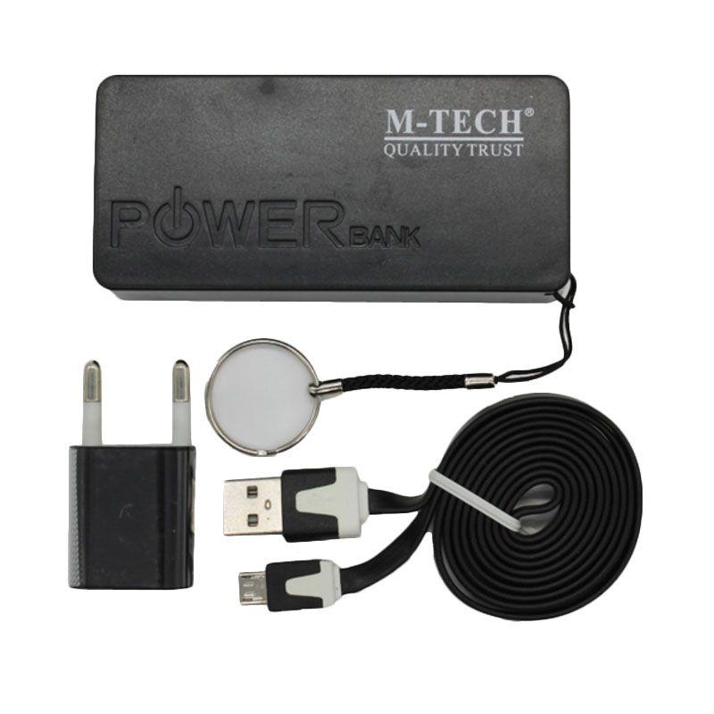 M-Tech Komplit Set Hitam Powerbank [4800 mAh]