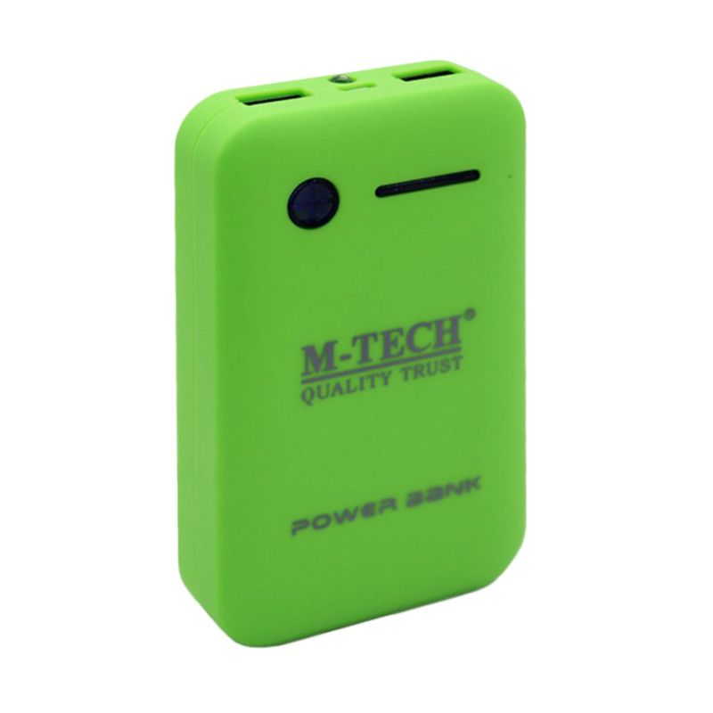 M-Tech Original Hijau Powerbank [6600 mAh/2 Port/Charger]