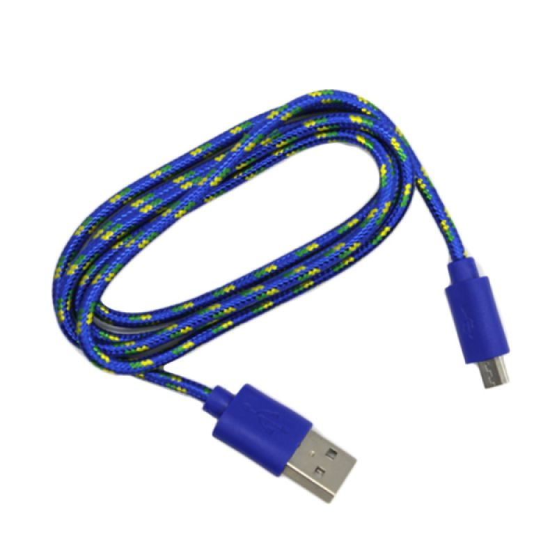M-Tech Tali Sepatu Biru USB Data Cable [1 m]
