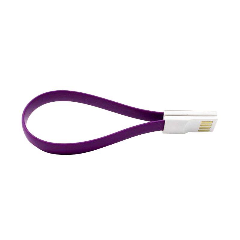 NYK Flat Magnet Ungu USB Data Cable