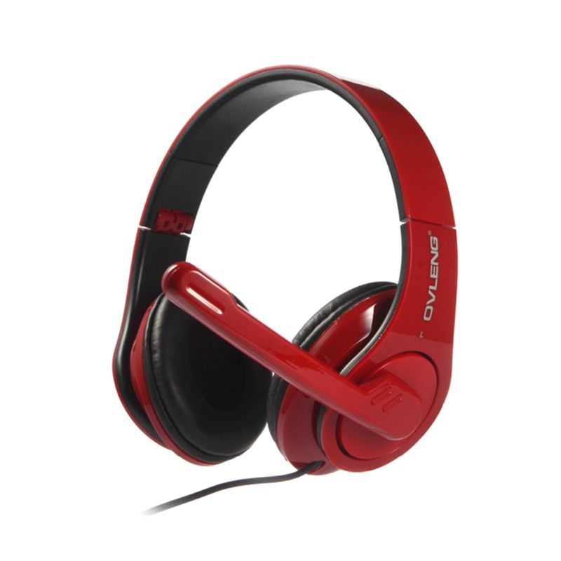 Ovleng Q8 Merah Gaming Headset