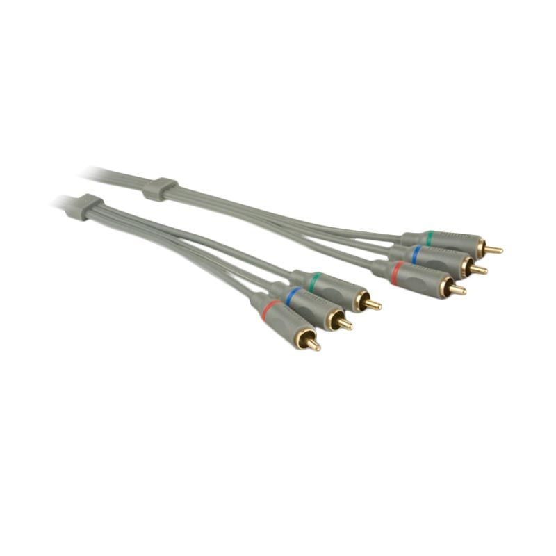 Philips Video Cable SWV4125S RCA3-RCA3 GOLD PJ Kabel Audio Video [3 M]