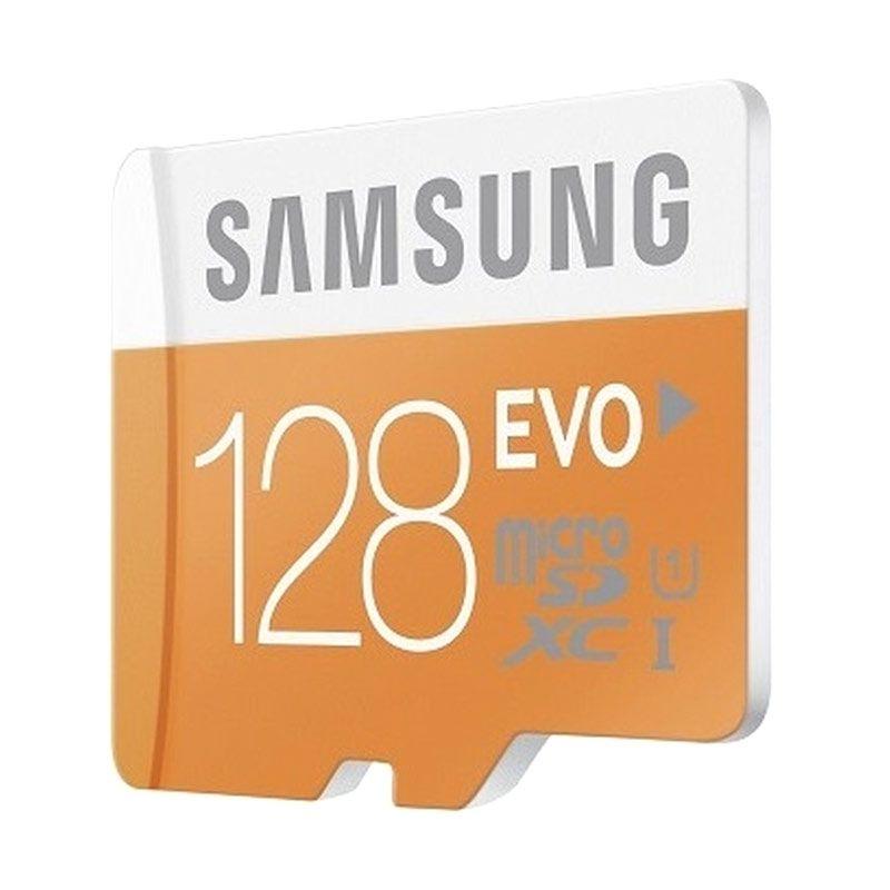 Samsung Evo MicroSD Class 10 Memory Card [128 GB/48 Mbps/Garansi Distributor]